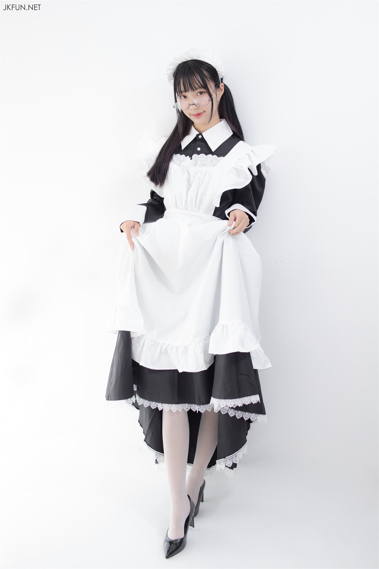 森萝财团 JKFUN-017 小梓 15D超薄白丝(127P)